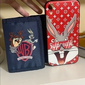 Bugs Bunny XR case and Looney Tunes Wallet COMBO